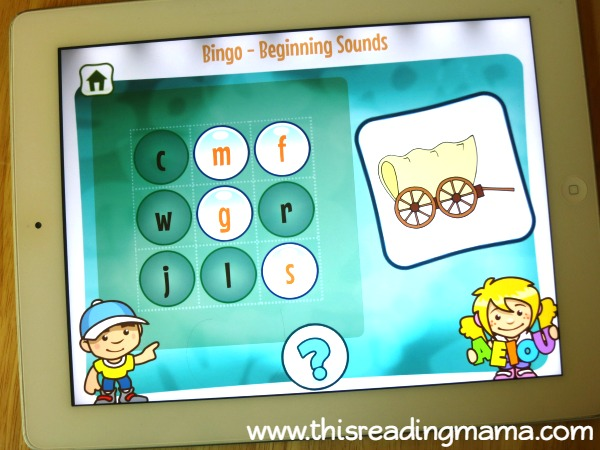 Beginning Sounds BINGO game from Alphabet Sounds Learning App
