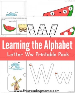 Learning the Alphabet - FREE Letter W Printable Pack - This Reading Mama