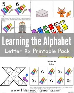 Learning the Alphabet - FREE Letter X Printable Pack - This Reading Mama