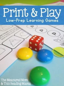 Print and Play - Low-Prep Learning Games