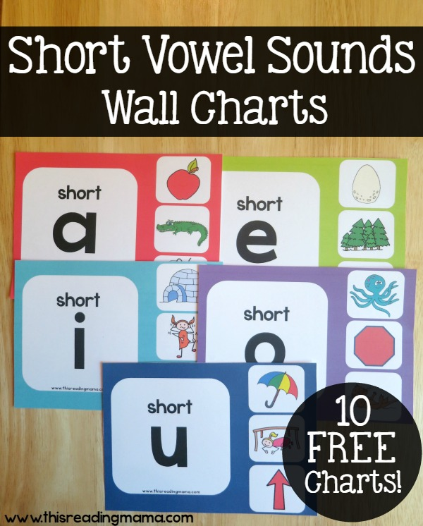 Short Vowel Sounds Wall Charts Free This Reading Mama