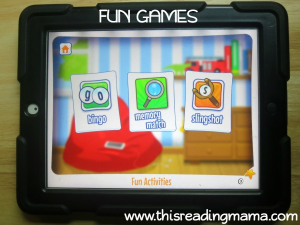 fun game section of Alphabet Sounds Learning App