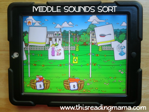 level 3 middle sounds sorting from Alphabet Sounds Learning App