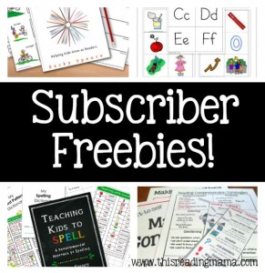 Subscriber Freebies and Benefits of This Reading Mamas Newsletter