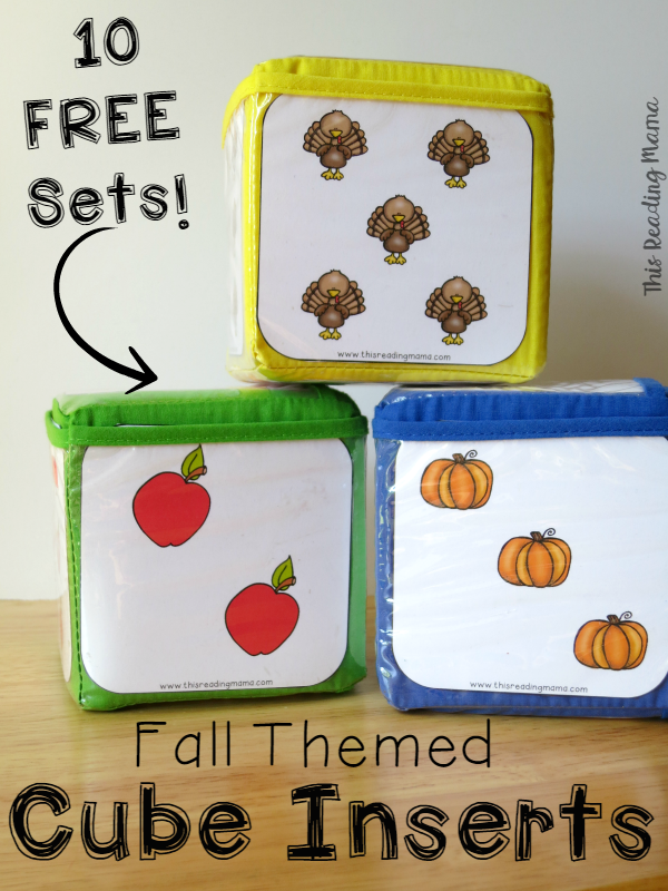 10 FREE Fall Themed Cube Inserts - This Reading Mama