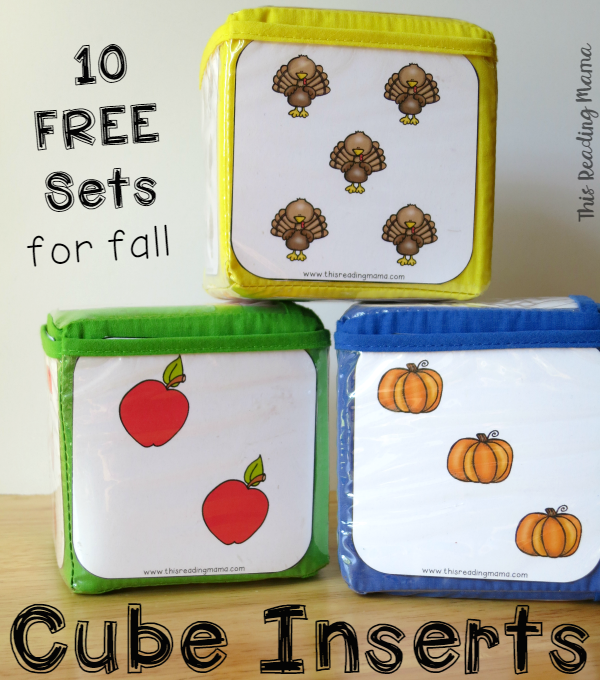 FREE Fall Cube Inserts - This Reading Mama