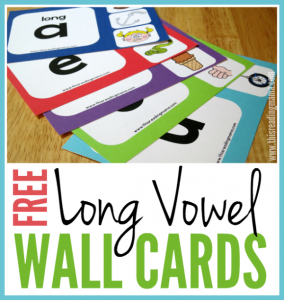 FREE Long Vowel Wall Cards -square - This Reading Mama