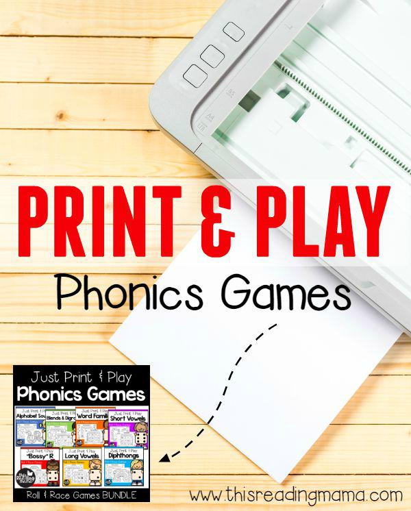 Just Print and Play Phonics Games BUNDLE - This Reading Mama