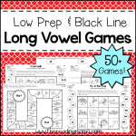 Low Prep Long Vowel Game Cover for Tpt