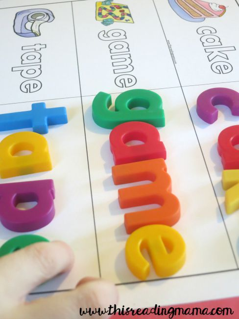 building words with magnetic letters