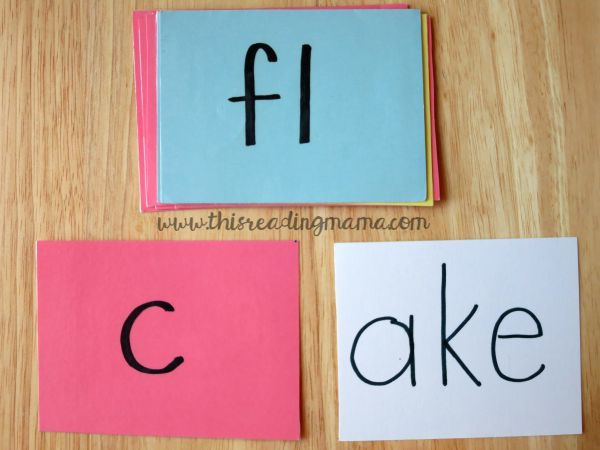 word family work with index cards