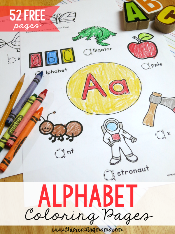 52 FREE Alphabet Coloring Pages