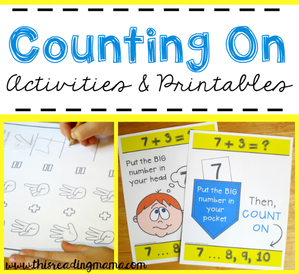 FREE Counting On Activities and Printables - This Reading Mama