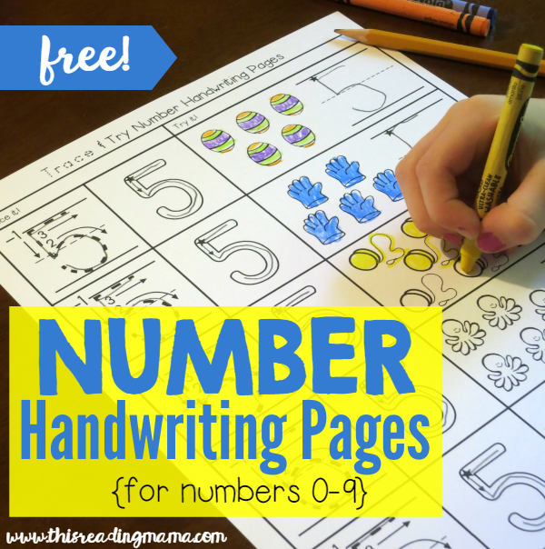 FREE Number Handwriting Pages - Trace and Try - This Reading Mama