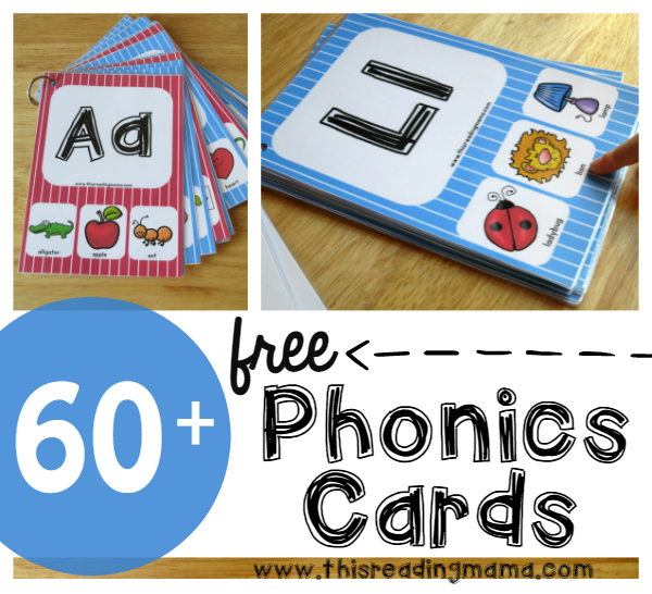 FREE Phonics Cards - Subscriber Freebie - This Reading Mama