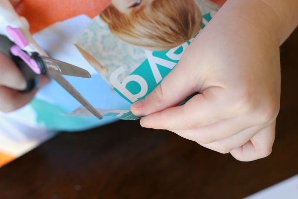 Letter Hunt and Sort Alphabet Activity - cutting out letter g