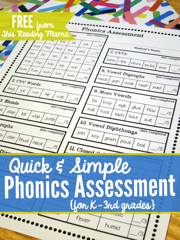 jolly phonics reading assessment pdf
