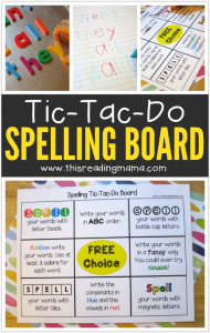 Tic-Tac-Do Spelling Words Board - This Reading Mama