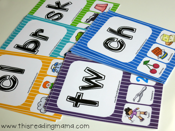 phonics cards for blends and digraphs