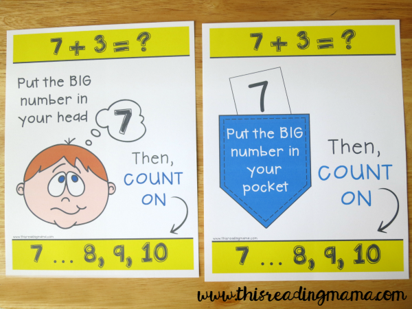 printable wall charts for counting on