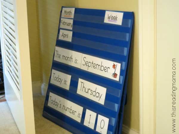 table top pocket chart store easily in small spaces