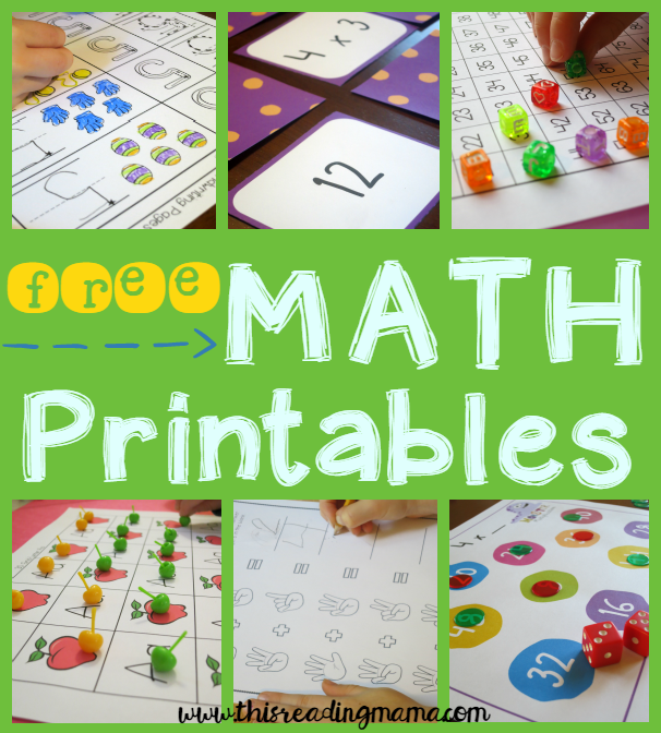 FREE Math Printables and Activities from This Reading Mama