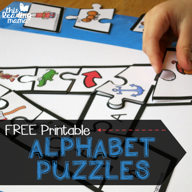 Number Names Worksheets printable alphabet letters upper and lower case : Printable Alphabet Puzzles {Upper and Lowercase Letters}