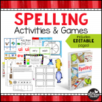 Printable Spelling Activities and Games Cover