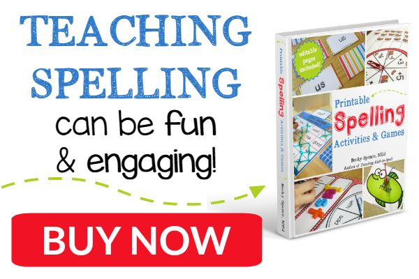 Printable Spelling Activities and Games - buy now