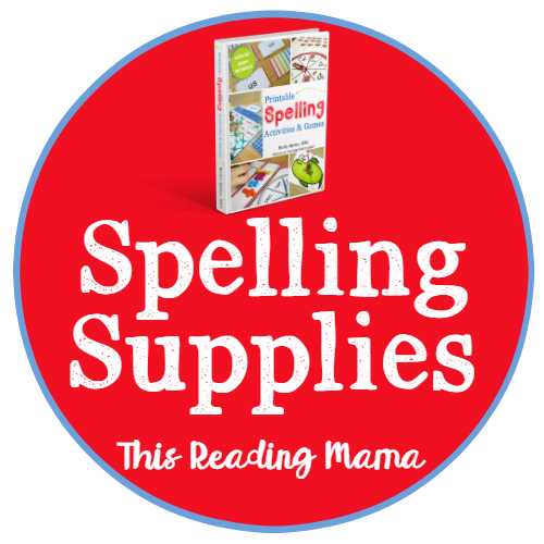 Spelling Supplies from Printable Spelling Activities and Games by Becky Spence