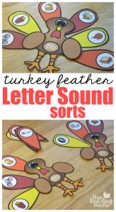Turkey Beginning Letter Sound Sorts