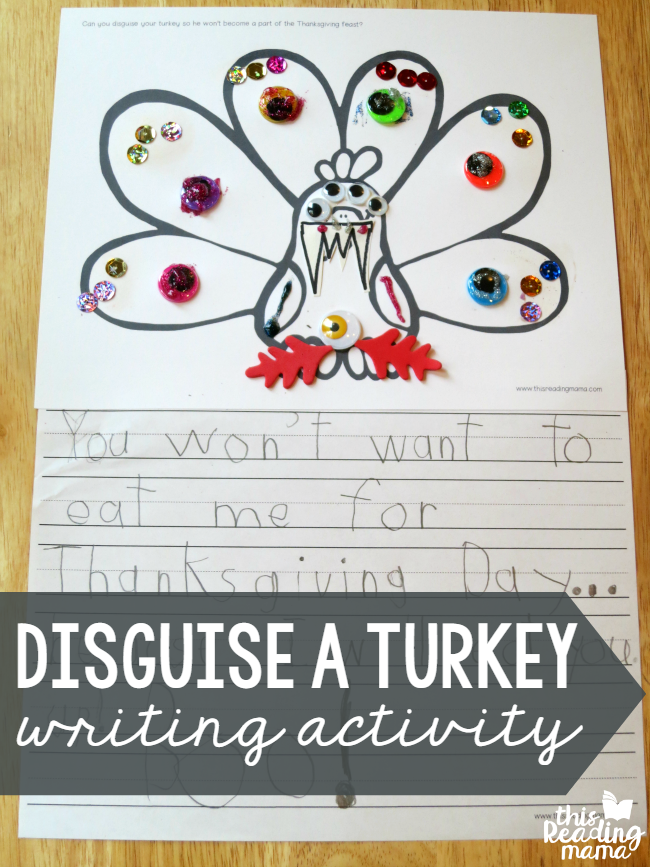 Disguise A Turkey Writing Activity With FREE Printables