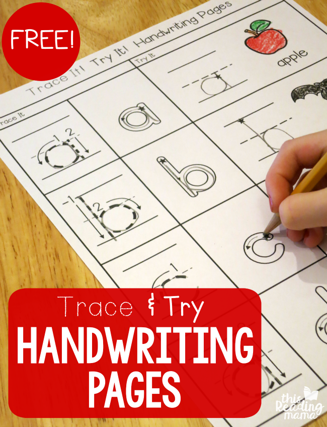 FREE Trace and Try Handwriting Pages - This Reading Mama