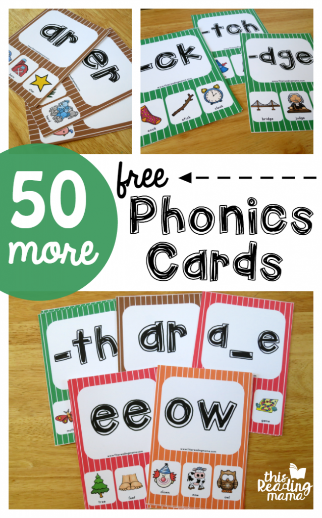 50 More Phonics Cards (FREE) - This Reading Mama
