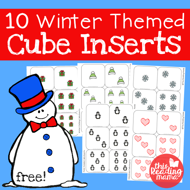 FREE Winter Themed Cube Inserts - This Reading Mama