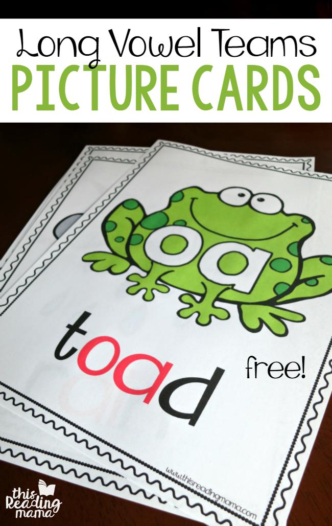 Vowel Teams - Long Vowel Picture Cards