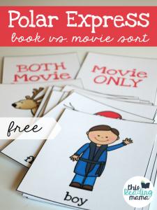 Polar Express Comprehension Sort {Book vs. Movie}