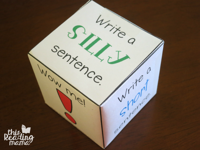 fun sentence writing activity with spelling words