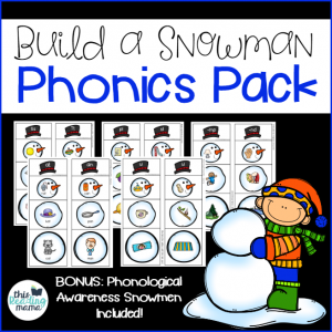 Build a Snowman Phonics Pack - This Reading Mama