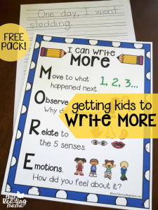 Get Kids to Write More {Free Charts!}