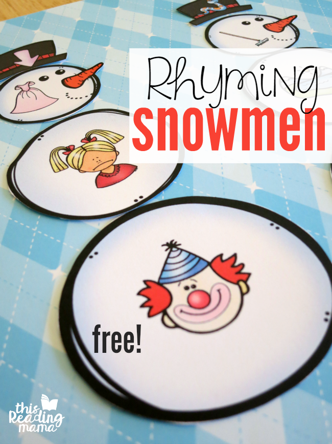 Build a Rhyming Snowman - Free Pack - This Reading Mama