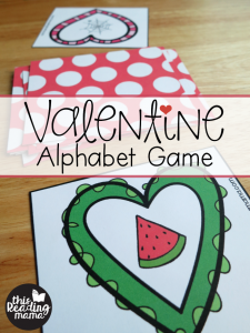 Valentine Alphabet Game for the Tricky Letters