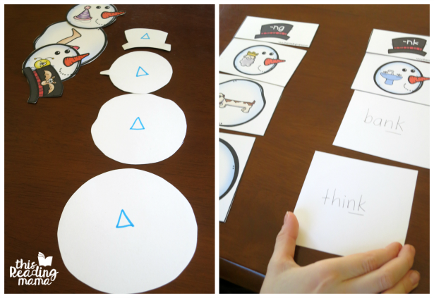 making snowmen self-checking for pre-readers and readers
