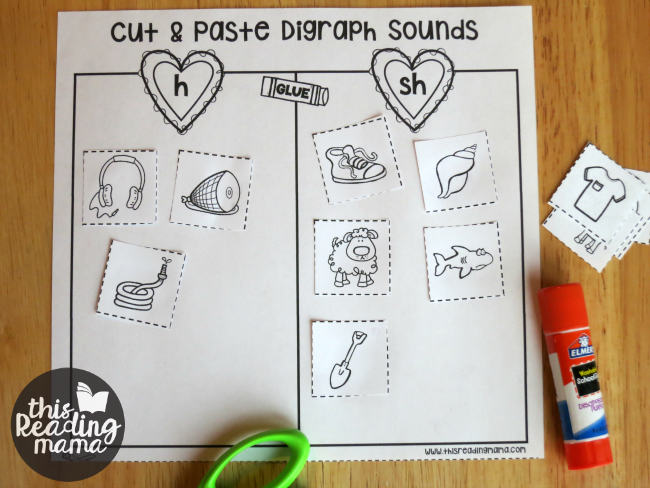no prep digraph sorts for kids