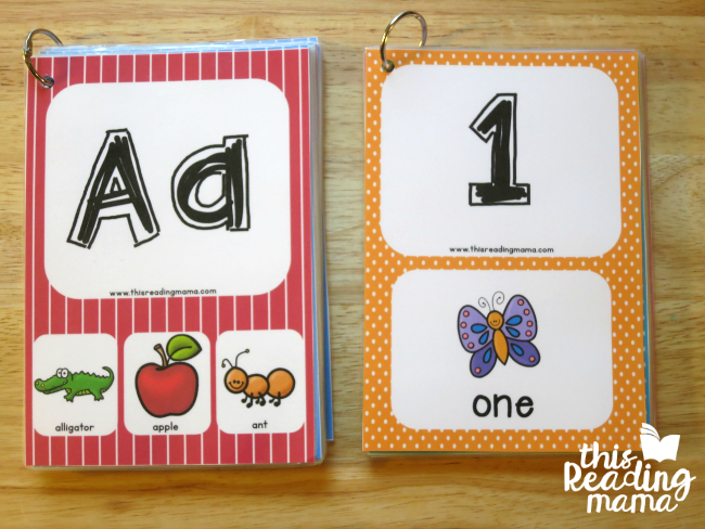 Alphabet Flip Book and Numbers Flip Book - This Reading Mama