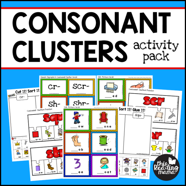 Free Puzzles With 3 Letter Consonant Clusters This Reading Mama