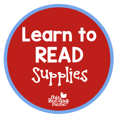 Learn to Read Curriculum Supplies and Suggestions