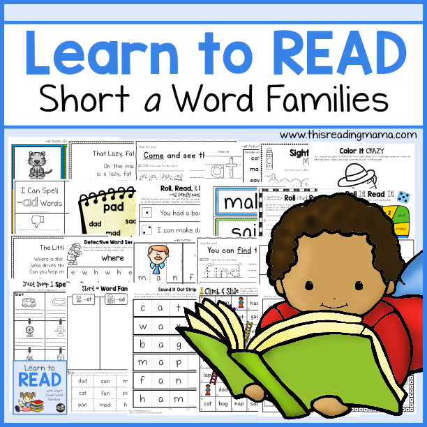 learn to read short a word families unit 1 this reading mama