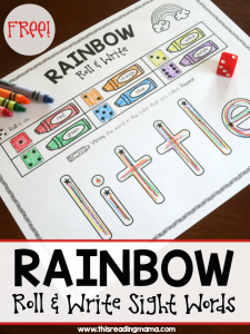 Rainbow Write – Roll and Write Sight Words