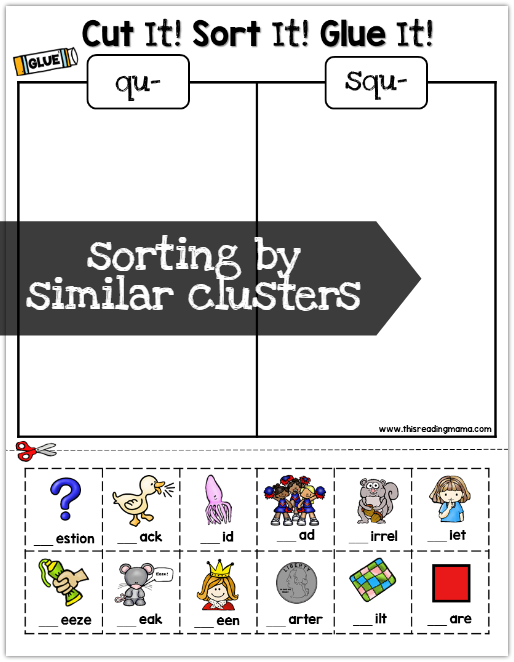 Student pages - sorting by similar cluster sounds